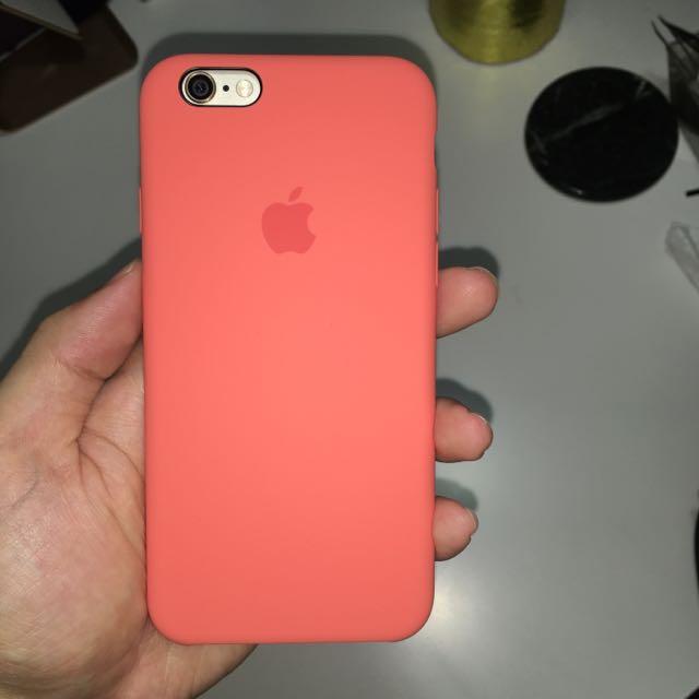 蘋果原廠iPhone 6s 矽膠護套-杏桃色,原價1150元