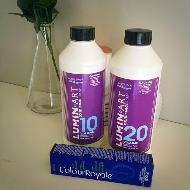 Luminart Oxidising Cream V10&20 And Colour Royale Dark Brown Hair Dye