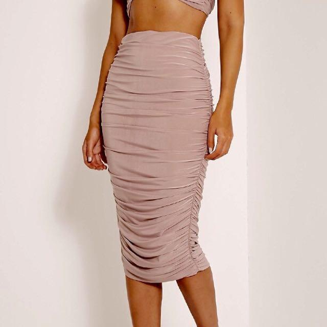 Marciano - Taupe Midi Skirt