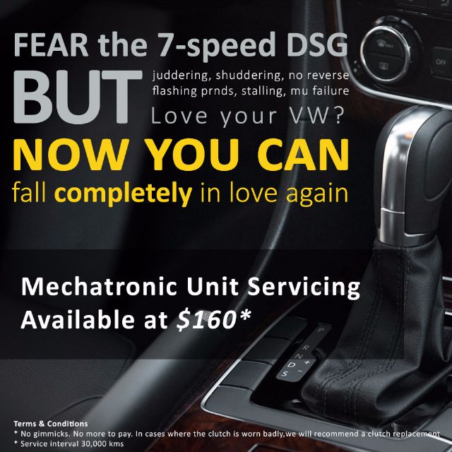 dsg 7 speed mechatronic replacement