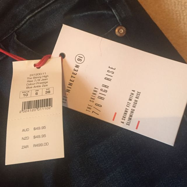 New Cotton on High waisted Blue Jeans
