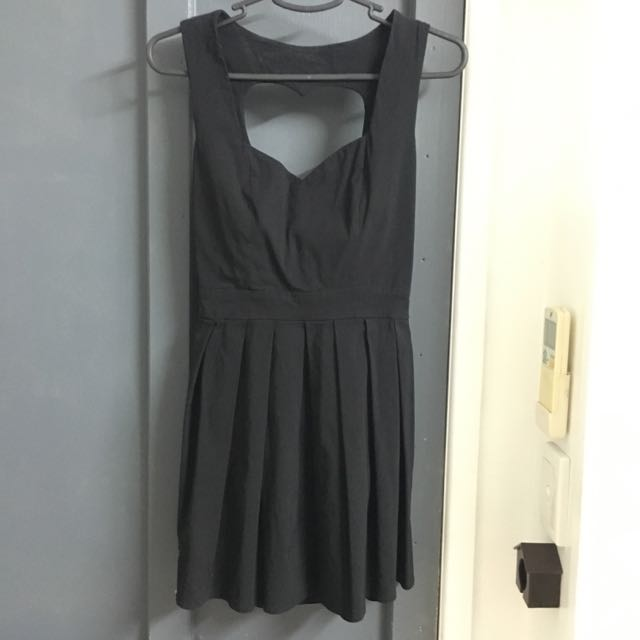Paper Heart Black Cut Out Heart Dress Size 10