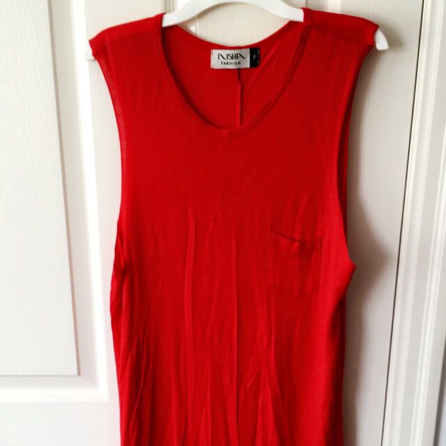 Red High-low T-shirt Dress