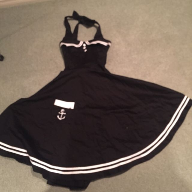 Rockabilly hell bunny vixen dress XS