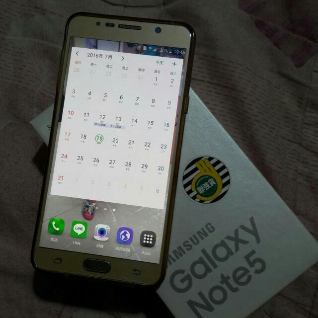 Samsung Not5 32G 香檳金