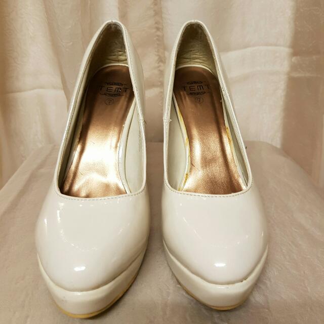 Temt Cream Pump Heels