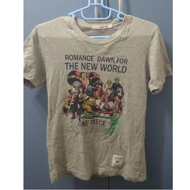 Uniqlo 海賊王 航海王 Onepiece 聯名款 T恤 上衣 XS 二手