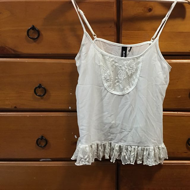White Frill Top