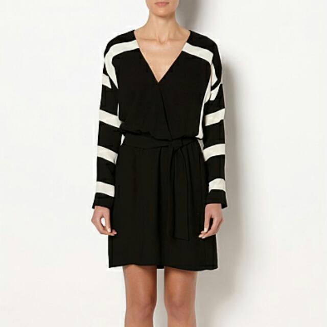 Witchery Bold Strip Wrap Dress