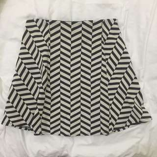 Zara TRF Geometric Skirt