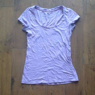 Lilac Purple Tshirt- In Pictures Look More Lavender