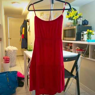 Gap Red Strapless Summer Dress