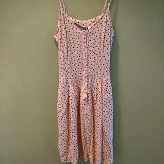 Pink H & M Skater Dress With Pockets