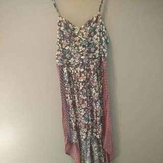 Long Floral O'Neil Dress,