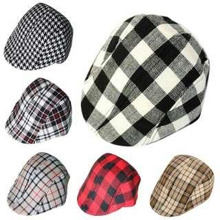 91bc2e5bef944 Boys Retro Baker Boy Peaked NewsBoy Country Outdoors Golf Hat Beret Flat Cap
