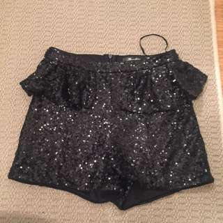 sparkly sequin shorts