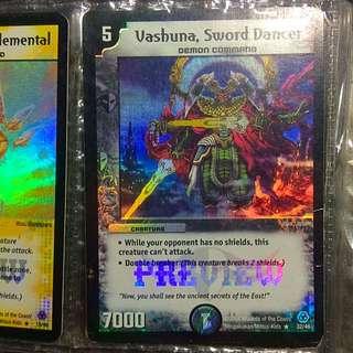 WTS: Duel Masters Foils: Darkness; Vashuna, Sword Dancer (QYOP)