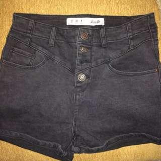 Highwaist Short Pants (Denim Co)