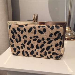 Forever New Clutch Leopard Print