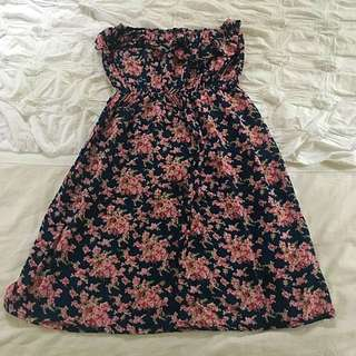 Free Size Floral Tube Dress