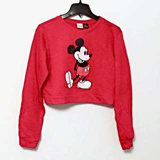 Mickey Cropped Crewneck