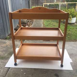 3 Tier Timber Trolley