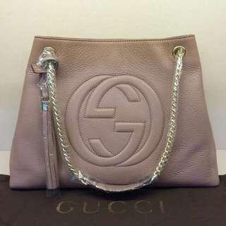 ‼️ [RESERVED] REDUCED Gucci Soho Leather Shoulder Bag