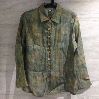 Vintage Floral Shirt With Mesh