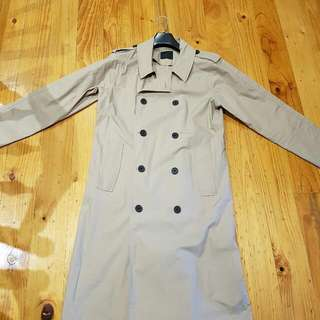 Asos Stone Colour Long Trench Coat