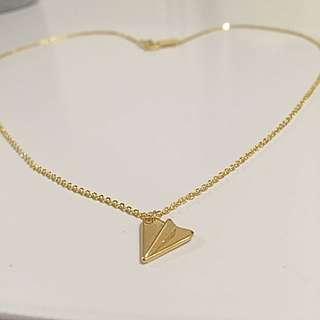 Cute Origami Paper plane Necklace Chain