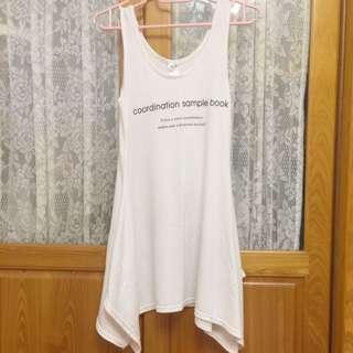 ❗️降價❗️《二手》韓國製 白色不規則連身裙