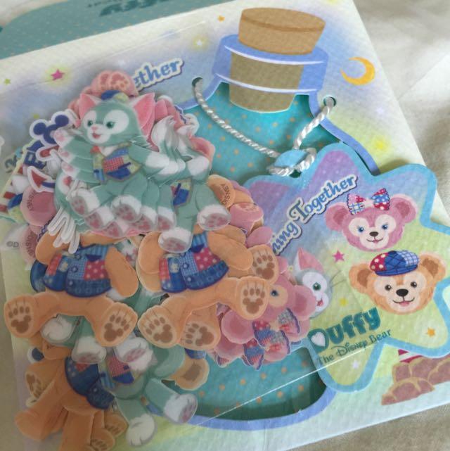 (免運)東京迪士尼15週年紀念duffy記事貼紙