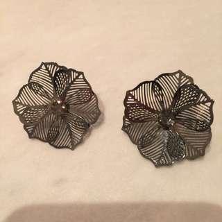 Metallic Earrings- Brand New