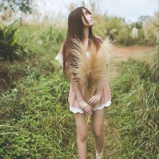 夢幻日系蕾絲雪紡上衣