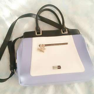Forever New Purple-white Handbag With Straps