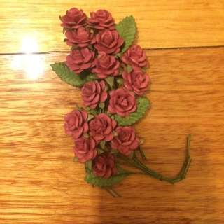 Mini mulberry paper roses