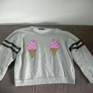 Semi Crop Top Pullover 💕