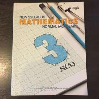 maths NA sec 3 textbook