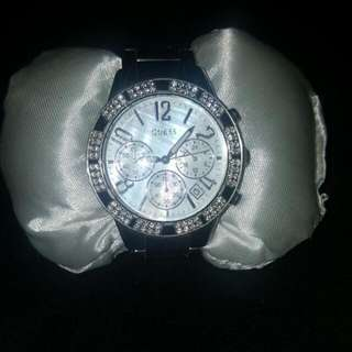 Guess Stellar Silver Dial Watch