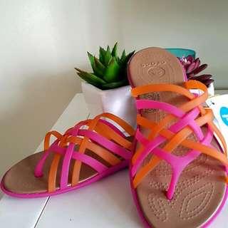BNWT Fluorescent CROCS sandals