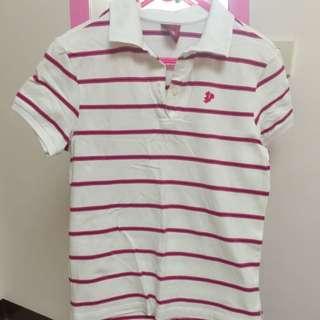《二手》TOP GIRL 條紋POLO衫