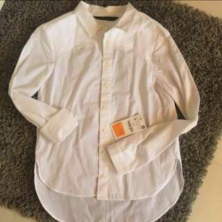 authentic zara white shirt size S