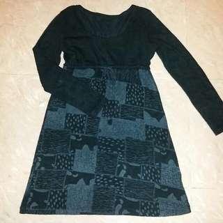 黑色針織裙$20