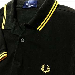 Fred Perry Black Polo Tee XS
