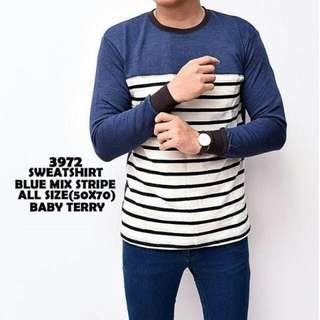Sweatshirt Blue Mix Stripe