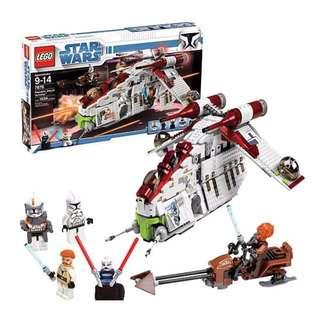 LEGO 7676 Starwars Republic Attack Gunship -Clone Wars