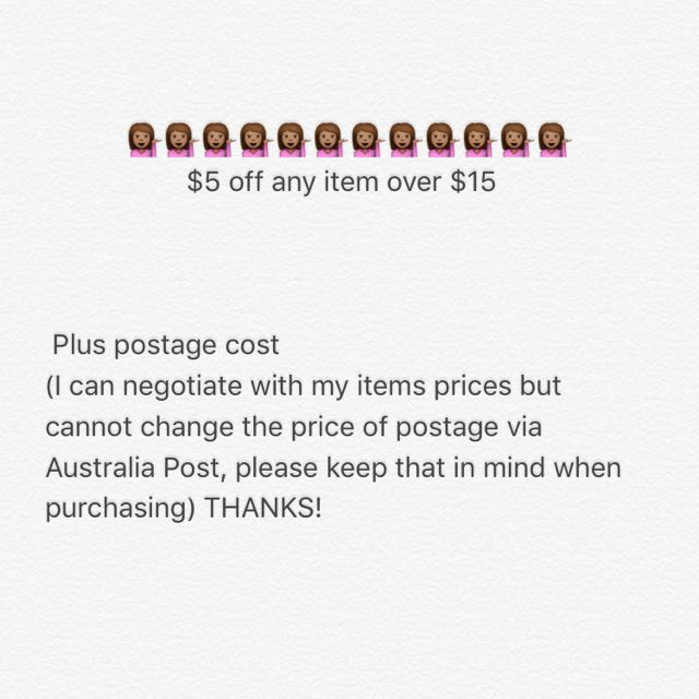 $5 OFF ANYTHING OVER $15!!