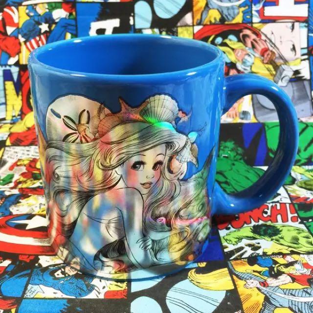 ❤️❤️美國迪士尼小美人魚愛麗兒公主可愛炫彩大容量陶瓷水杯子❤️❤️