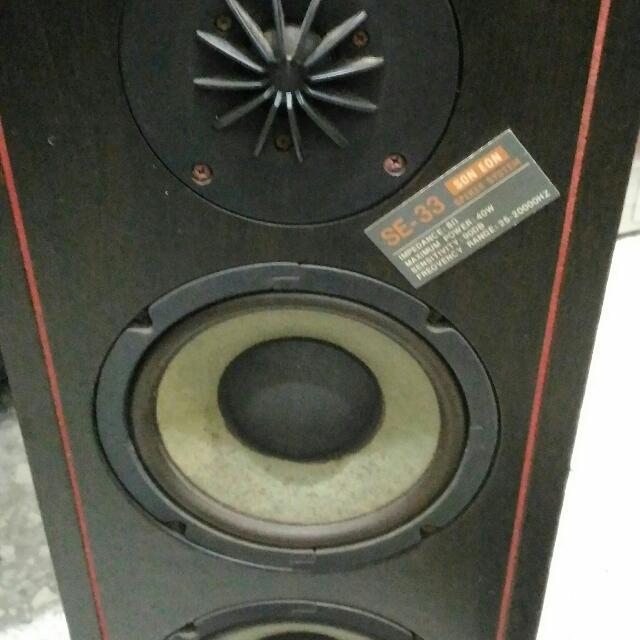 自售 SE-33 進口3音路喇叭一對