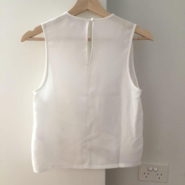 Asos Dressy White Top Size: 8